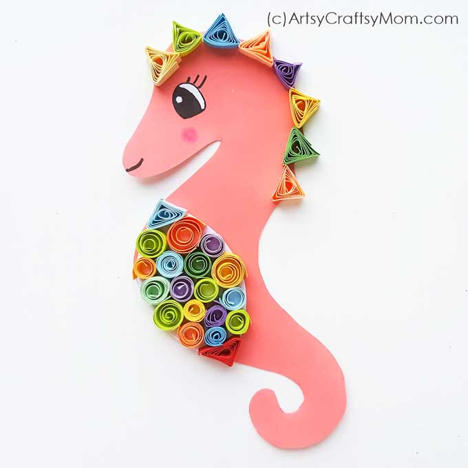 Intrigued by seahorses? Let's learn more about these mysterious animals with a Paper Quilled Seahorse Craft - perfect for beginners to paper quilling!