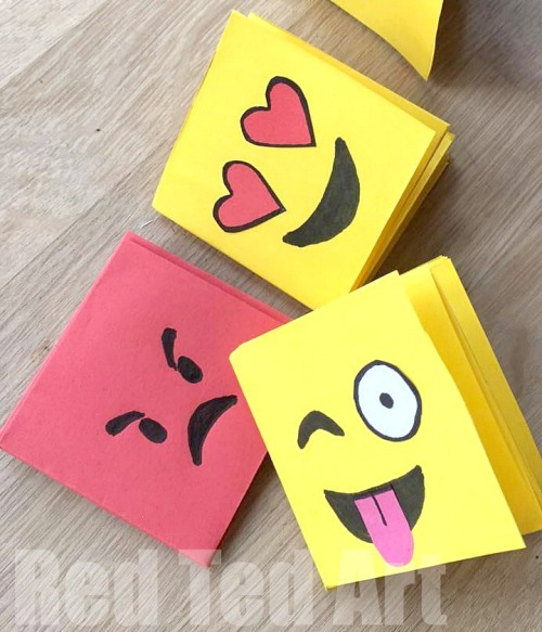 Small artist round sponge (to smooth edges) 20 Emoji Crafts For Kids And Teens World Emoji Day Crafts