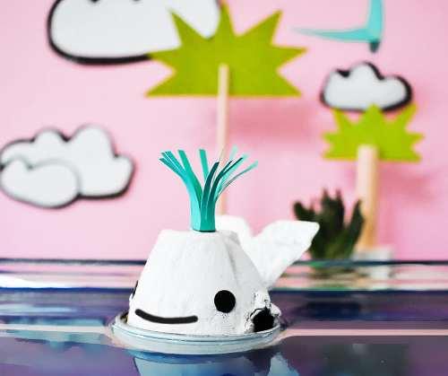 Recycle your emptyegg cartons to make egg carton Whale - ArtsyCraftsyMom