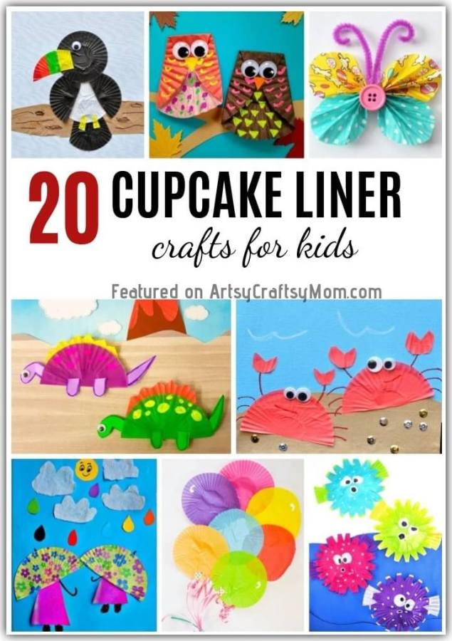 Check out our list of Cute and Easy Cupcake Liner Crafts for Kids to see how you can turn cupcake liners into birds, animals, flowers, dolls and more!