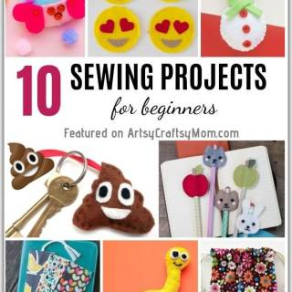 Learn a life skill and have fun at the same time with these simple sewing projects for beginners! Let kids make pencil toppers, bag tags, plushies and more!