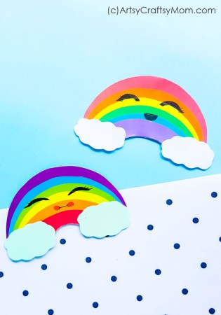 Smiling Rainbow Paper Craft