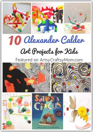 Science meets art in these amazing Alexander Calder Art Projects for Kids! Play with lines, shapes and colors to make beautiful sculptures and paintings!