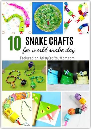10 Sassy Snake Crafts for Kids