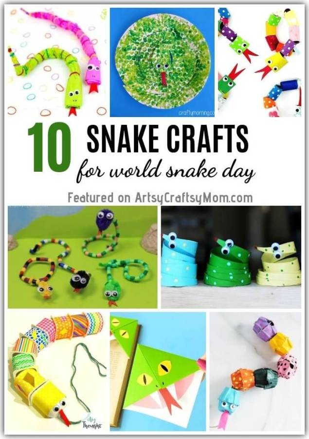 These Sassy Snake Crafts for Kids show that you can make snakes out of pretty much anything! From paper plates, cardboard tubes, egg cartons, socks & more!