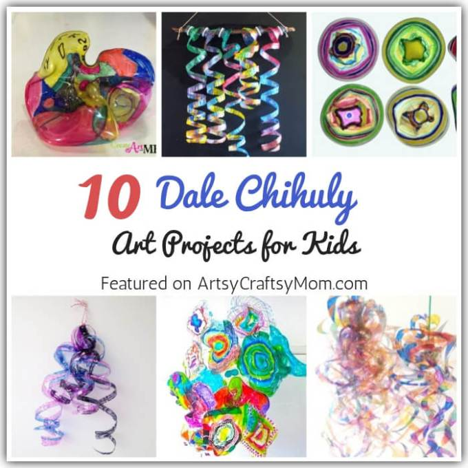 Have you ever observed glass? Artist Chihuly did, and the result is amazing art! Let's celebrate this artist with 10 Dale Chihuly Art Projects for Kids.