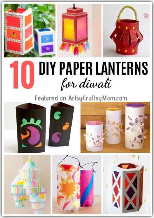 The festival of lights is nearly here and it's time to light up your home! Add some handmade charm to it with these easy DIY Paper Lanterns for Diwali.
