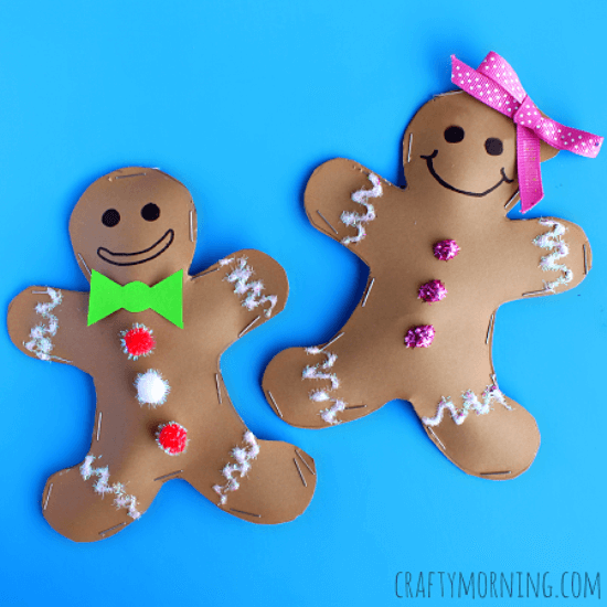'Tis the season to have fun with the gingerbread man and he's not running away! Celebrate the little guy with some Adorable Gingerbread Man Crafts for Kids!