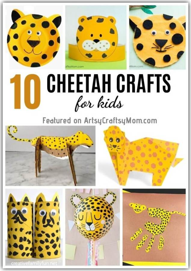 There's no cheating about it - the Cheetah is the fastest animal on land! Celebrate the awesome cheetah with these cheerful cheetah crafts for kids.