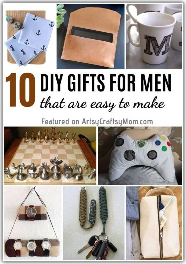 Struggling with gift ideas for the men in your life? Here are 10 DIY Gifts for Men that are easy to make and sure to be 100% useful too!