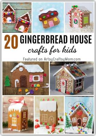 Decorate and set up your own gingerbread dwelling with these Gorgeous Gingerbread House Crafts for Kids! Lots of crafts with paper, cardboard, felt & more!
