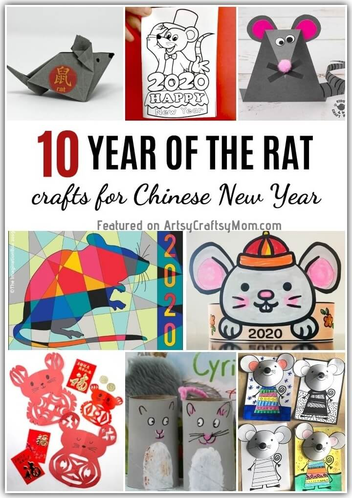 2020 is the Year of the Rat! So it's only fair that we celebrate the Chinese New Year with some awesome Rat Crafts for Kids!