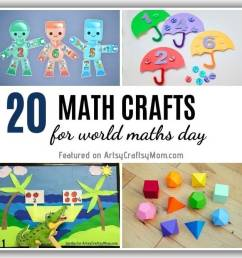 20 Enjoyable Math Crafts and Activities for World Maths Day [ 670 x 1240 Pixel ]
