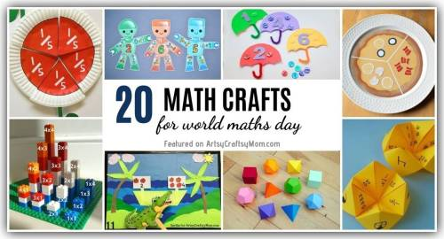 small resolution of 20 Enjoyable Math Crafts and Activities for World Maths Day