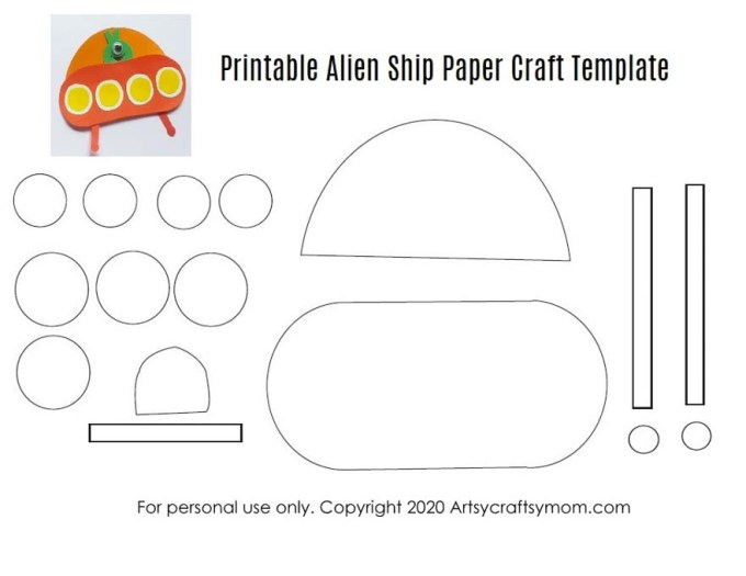 Our Printable Alien Ship Paper Craft is a super-easy, super fun way to take a trip to outer space! Decorate your desk or use as a bookmark for a space book!
