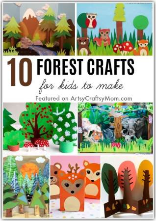 The forests are calling! It's the International Day of Forests this 21st March, and we're celebrating with a bunch of fascinating forest crafts for kids!
