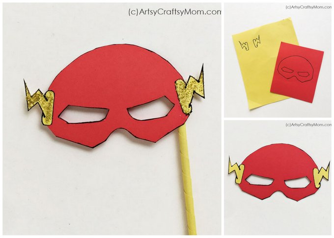 It's time to unleash your superpowers with this Printable Captain America & Flash Mask that will give your Marvel Superhero Party the extra punch it needs!