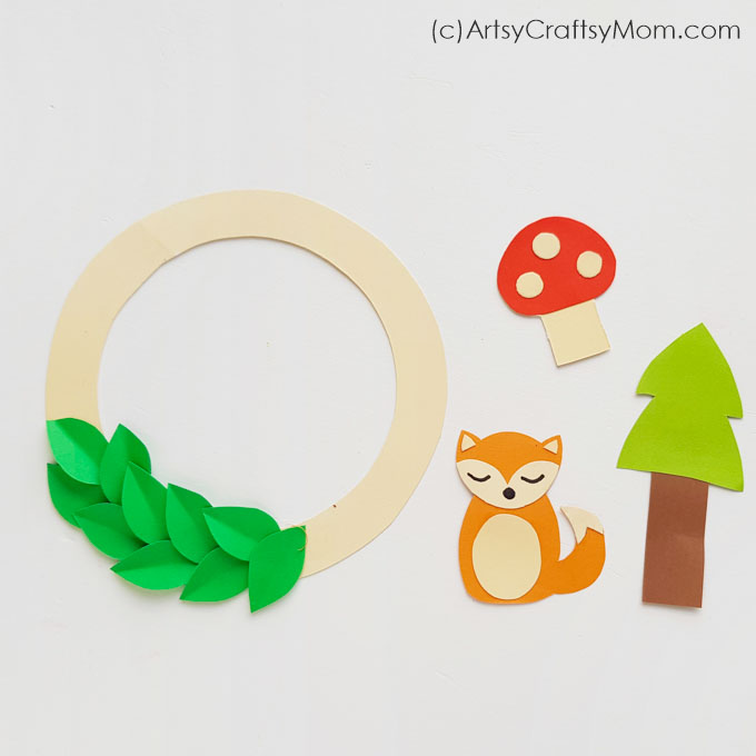 The cute critters on this printable woodland wreath craft will brighten up your day, whatever the weather outside! Make many and hang all around your home!