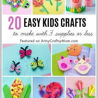 Running out of craft supplies and stores are shut due to lockdown? No problem, here are 20 Easy Crafts to Make with Three Supplies or Less!