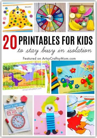 Kids going nuts with boredom? Here are some printables to keep kids busy at home during isolation. It's got everything from educational activities to toys!