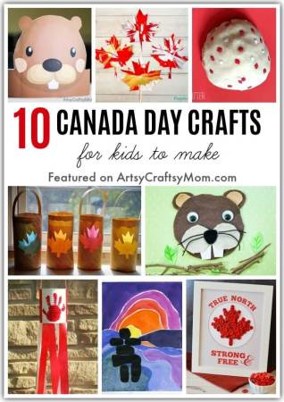 It's Canada Day on July 1st and we're celebrating with some easy and creative Canada Day Crafts for Kids! Let's learn about maple leaves, inukshuks & more!