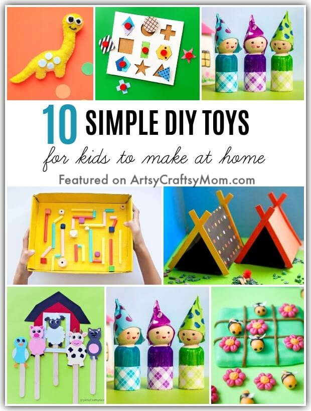 Bored at home and toy stores aren't yet open? No problem, here are 10 Easy DIY Toys that you can make at home - fun, frugal and fantastic!