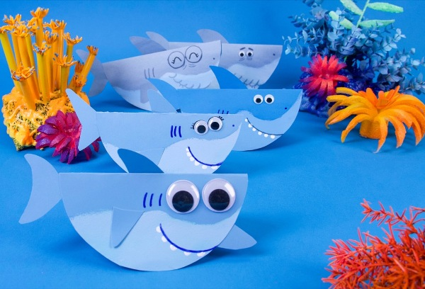 Did you know that 14th July is Shark Awareness Day? Celebrate this special creature with some fun and easy shark crafts for kids - even the little ones!
