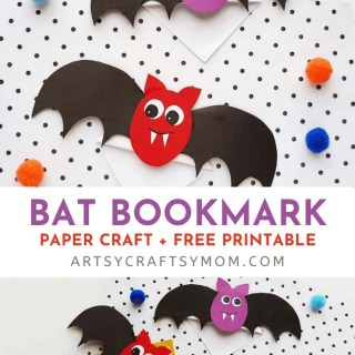 This easy Corner Bat Bookmark Craft is not just useful for marking your place in your book, it also puts you in the mood for Halloween!