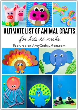 It's time to have some fun with our Ultimate List of  Animal Crafts for World Animal Day! There are mammals, reptiles, birds, insects & more!