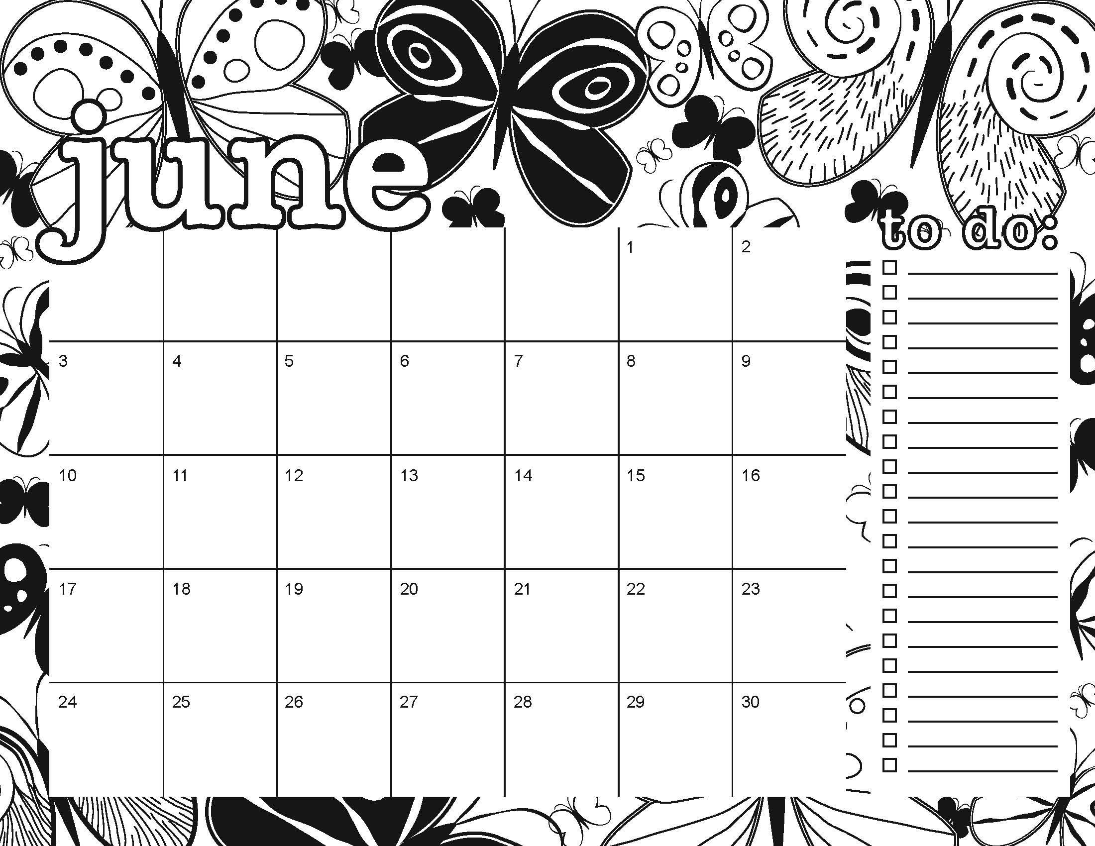 graphic about Printable Coloring Calendar identify coloring web page Artsy Dork