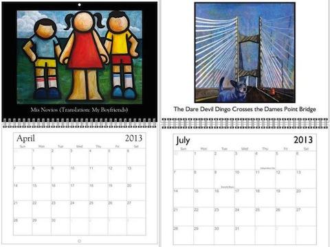 Childhood Series & Dingo Loves Jax Calendars by Yvonne Lozano