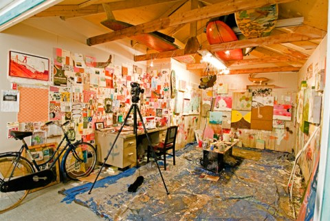 Studio of artist Thomas Campbell
