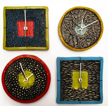 Texture Clocks by Ed & Kate Coleman