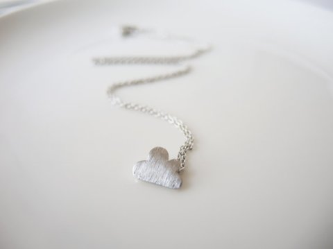 Tiny Cloud Necklace by Boutique MI