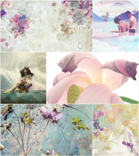 Radiant orchid_soft_collage