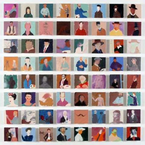 Sixty Four Artists Painting Self Portraits by Holly Frean