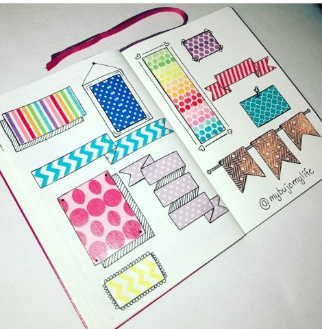 Washi spread using banners