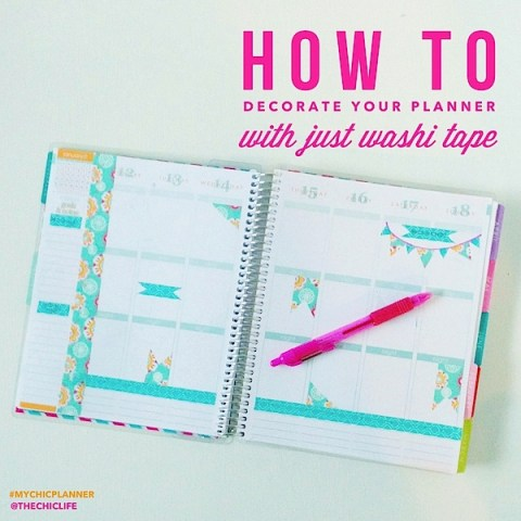 Washi tape in your planner