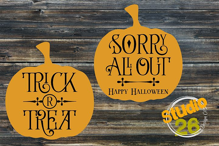 Free pumpkin clip art/ cut files for Halloween trick or treat sign. Best free cut files for Halloween, fall, and Halloween crafts