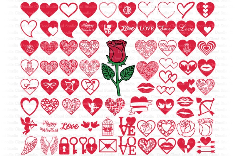 Download Love heart SVG free- cut ready craft files | ArtsyInspired