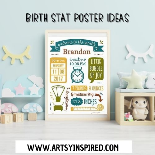 8525 best baby poster ✓ free vector download for commercial use in ai, eps, cdr,. Birth Stats Templates Easy 10 Minute Diy Baby Keepsakes Artsyinspired