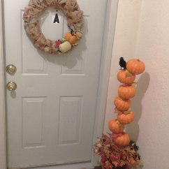 Dollar Tree Pumpkin Chair Covers Office Lazy Boy Diy Topiary Artsyjess