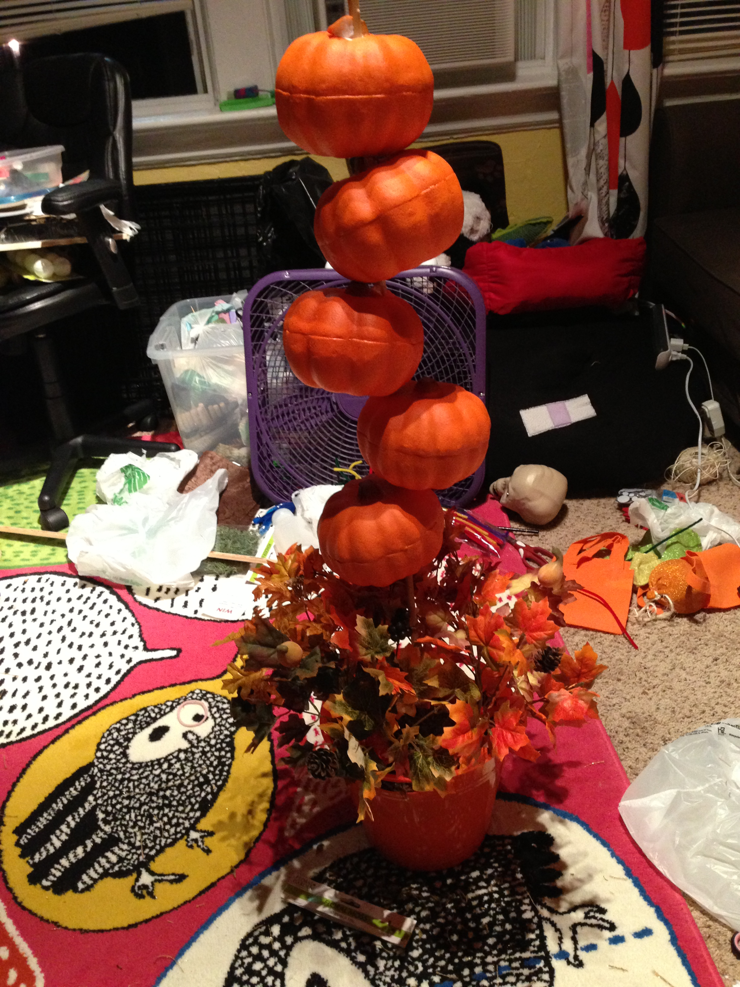 dollar tree pumpkin chair covers ergonomic cost diy topiary artsyjess