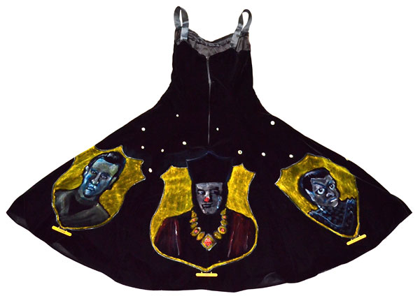 """The Triumphs of Picard"" (Back of velvet painting dress)"" (2nd place winner at Captain Picard Day 2012)"