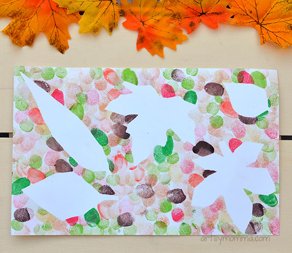 leaf art projects for