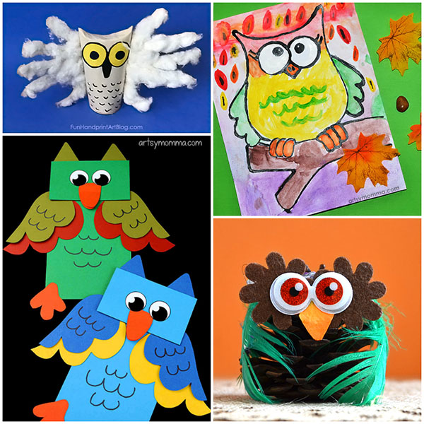 Cute And Easy Owl Craft Ideas For Kids Of All Ages Artsy Momma