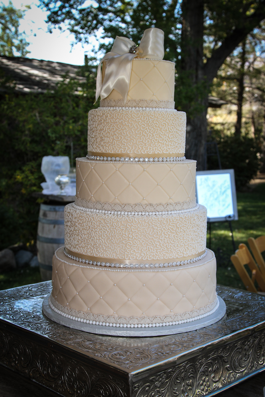 Jessica and Jon  Vintage Wedding Cake  ArtsyOnDemand