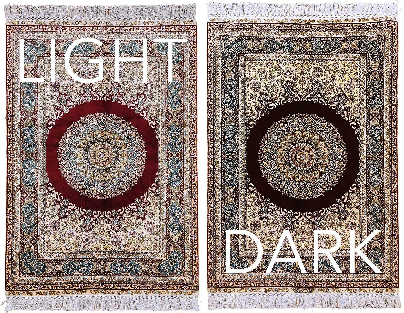 Learning About The Light and the Dark Side of An Oriental Rug