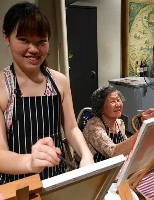 """""""Ah Ma"""" & granddaughter. Ah Ma is our oldest customer to date. She rocks!!! We're very proud of her. Thank you so much."""