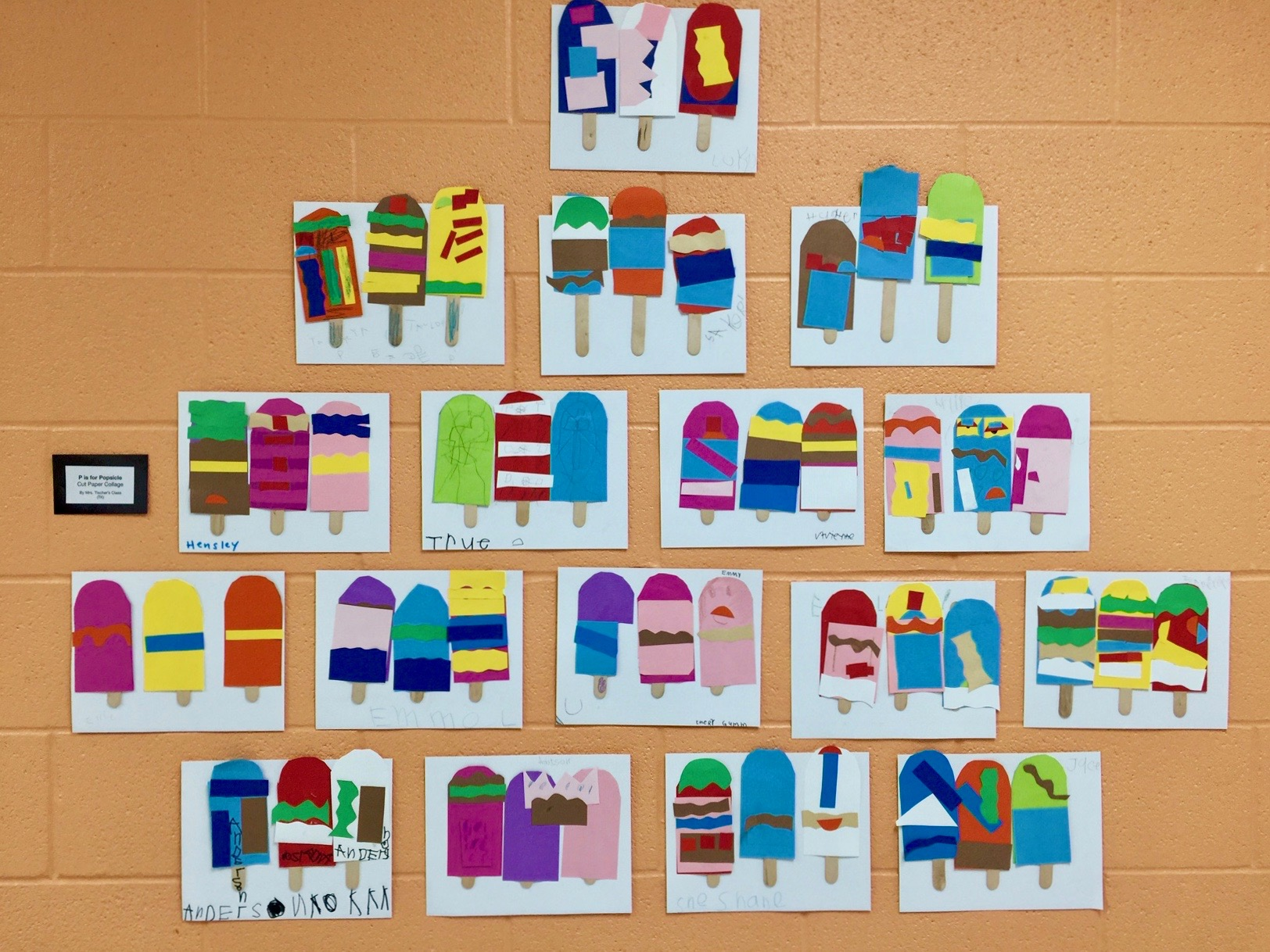 Colorful Preschool Art Project P Is For Popsicle Collage